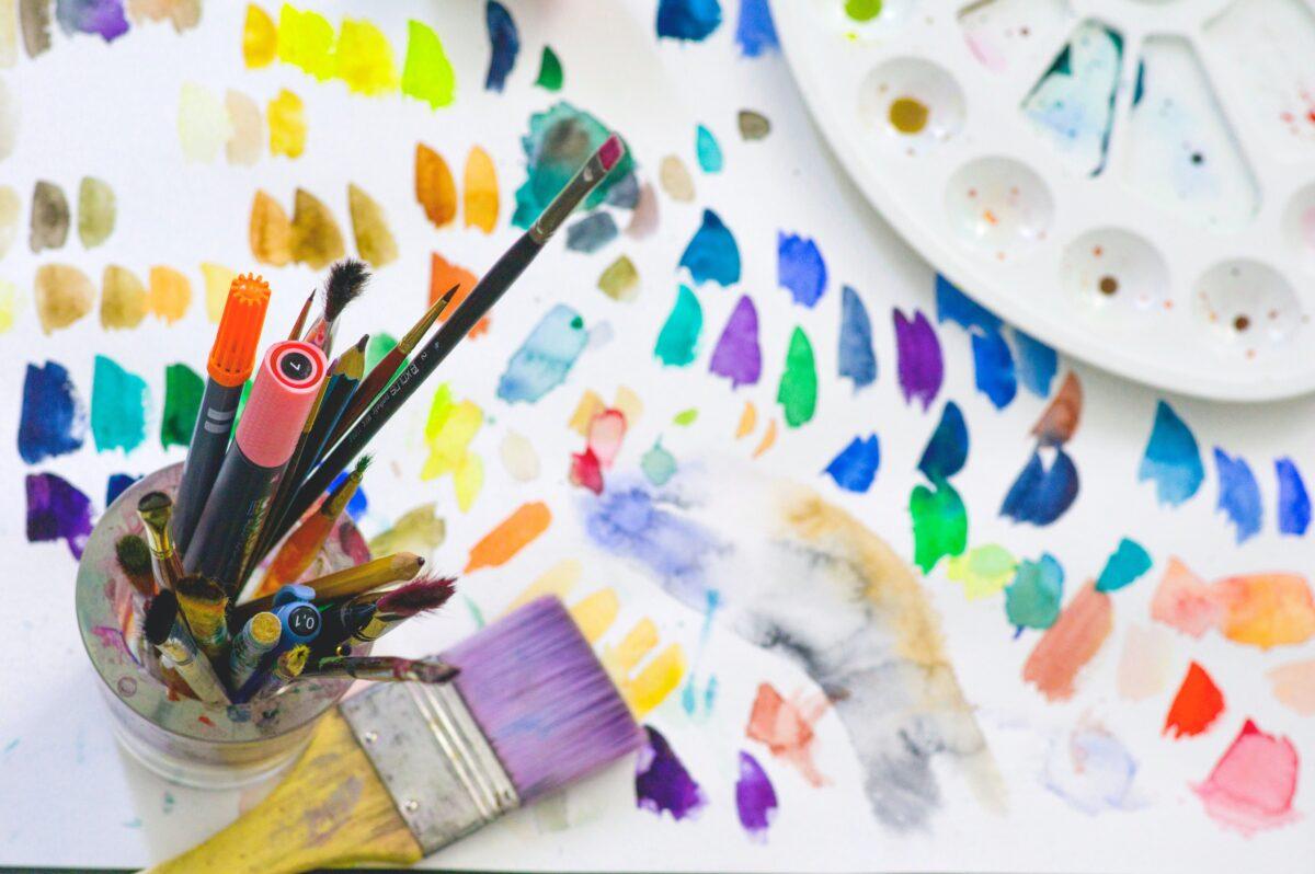 schilderen verf palet