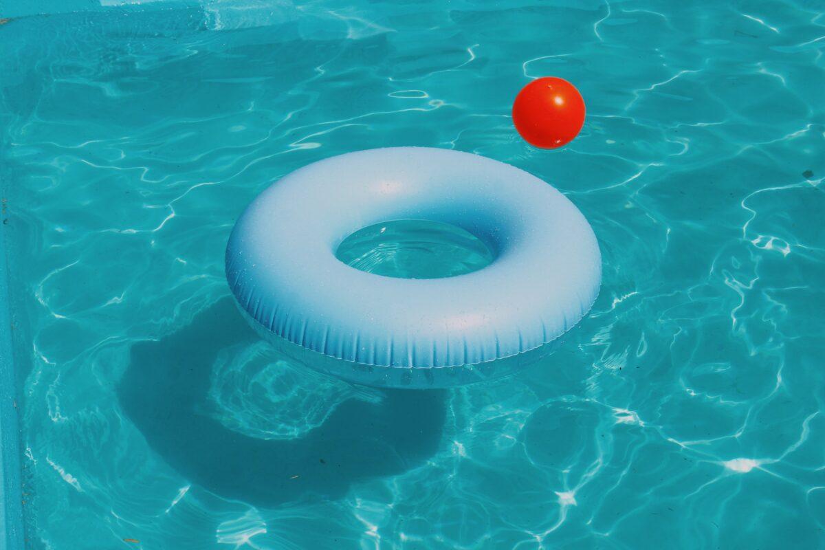 zwembad water zwemband